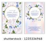 vector banners set with summer... | Shutterstock .eps vector #1235336968