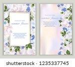 vector banners set with summer...   Shutterstock .eps vector #1235337745
