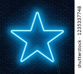 Neon Glowing Star Sign. Can Be...