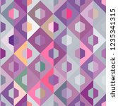 seamless pattern with abstract... | Shutterstock .eps vector #1235341315