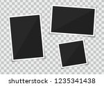 vector set of template photo... | Shutterstock .eps vector #1235341438