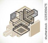 3d design  abstract vector... | Shutterstock .eps vector #1235350675