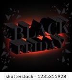 black friday sale promo poster. ... | Shutterstock .eps vector #1235355928
