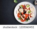 valentine s day salad. italian... | Shutterstock . vector #1235363452