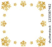 frame of snowflakes with curls  ... | Shutterstock .eps vector #1235387482