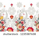 seamless border with openwork... | Shutterstock .eps vector #1235387638