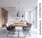 Contemporary Dining Room With...