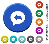 reply message round color... | Shutterstock .eps vector #1235398885