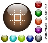snap to grid white icons on...   Shutterstock .eps vector #1235398915