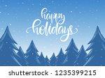 handwritten calligraphic... | Shutterstock .eps vector #1235399215