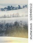 snowy hills landscape on winter ... | Shutterstock . vector #1235400112
