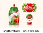 packaging of tomato ketchup... | Shutterstock .eps vector #1235401132