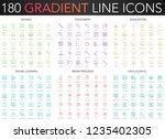 180 trendy color gradient style ... | Shutterstock .eps vector #1235402305