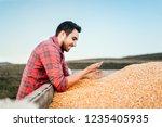 combine harvesting details  ... | Shutterstock . vector #1235405935
