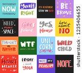 vector slogan quote phrases... | Shutterstock .eps vector #1235406655