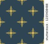 seamless decorative vector... | Shutterstock .eps vector #1235408488
