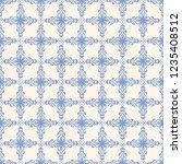 seamless decorative vector... | Shutterstock .eps vector #1235408512