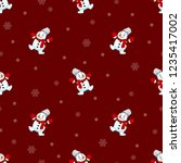seamless pattern of christmas... | Shutterstock .eps vector #1235417002