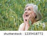 portrait of a cute beautiful...   Shutterstock . vector #1235418772