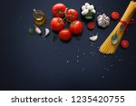 ingredient for spaghetti...   Shutterstock . vector #1235420755