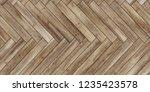 seamless wood parquet texture ... | Shutterstock . vector #1235423578