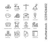 set of 16 industry linear icons ... | Shutterstock .eps vector #1235426602