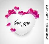 paper heart shaped not width...   Shutterstock .eps vector #123542845