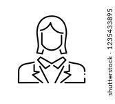 employee woman thin line icon. | Shutterstock . vector #1235433895