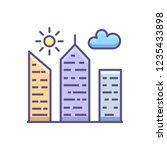 city building outline filled... | Shutterstock . vector #1235433898
