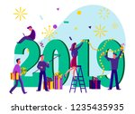 new year business concept....   Shutterstock .eps vector #1235435935