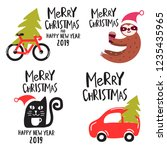 merry christmas and happy new... | Shutterstock .eps vector #1235435965
