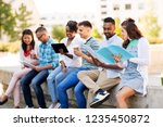 education  international and... | Shutterstock . vector #1235450872