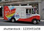 montreal canada 08 21 16  truck ... | Shutterstock . vector #1235451658