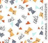 vector seamless pattern cute... | Shutterstock .eps vector #1235452195