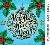 happy new year  lettering... | Shutterstock . vector #1235453692