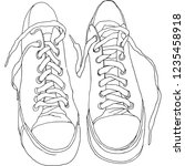 sneakers graphics isolated on... | Shutterstock .eps vector #1235458918