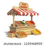Food Market Kiosk  Farmers Sho...