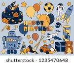 birthday vector illustration.... | Shutterstock .eps vector #1235470648