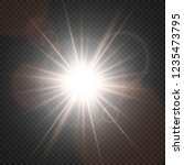 white glowing light explodes on ... | Shutterstock .eps vector #1235473795