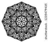 mandala for coloring.round... | Shutterstock .eps vector #1235479435