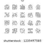 hobbies well crafted pixel... | Shutterstock .eps vector #1235497585