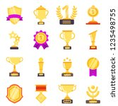 trophy symbols. achievement... | Shutterstock .eps vector #1235498755