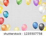 flying color transparent... | Shutterstock .eps vector #1235507758