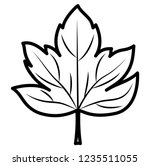dry leaf icon  | Shutterstock .eps vector #1235511055