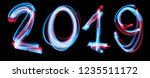 2019 happy new year number with ... | Shutterstock . vector #1235511172