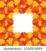 dry leaves design | Shutterstock .eps vector #1235513095