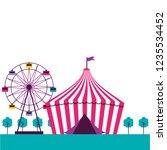 circus fun fair   Shutterstock .eps vector #1235534452