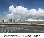 oil refinery image from iphone | Shutterstock . vector #1235535355