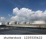 oil refinery image from iphone | Shutterstock . vector #1235535622