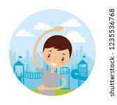 kid good habits    Shutterstock .eps vector #1235536768